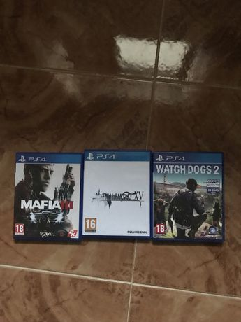 Watch dogs 2, mafia 3, final fantasy xv jogos ps4