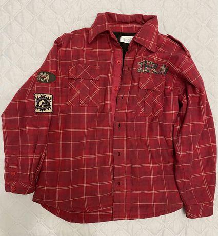 Рубашка-куртка теплая