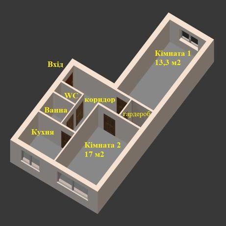 2 окремі кімнати. СУПер місце, БЛИзенько транспорт. БЕЗ комісії