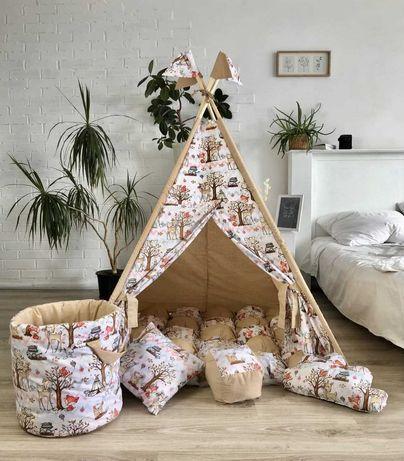 Палатка вигвам, детский игровой домик. Акция! Подушечка в подарок.