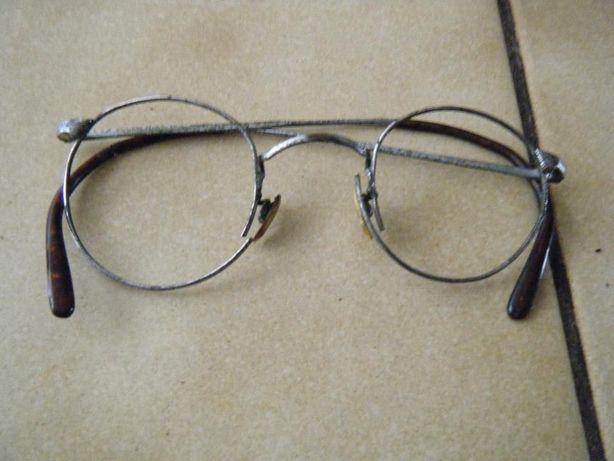 okulary stare przedwojenne binokle