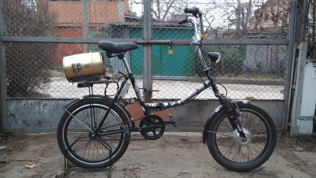 Складной электро велосипед не спортивный не горный дешевле батареи