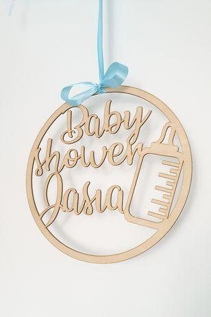 Baby shower dekoracje topper koło pikery