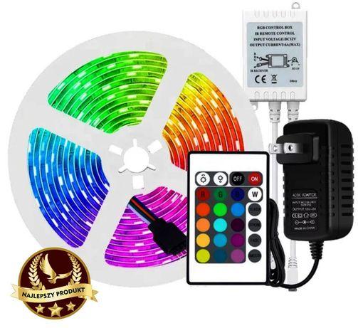 Taśma RGB LED 5m Kolorowe Pilot