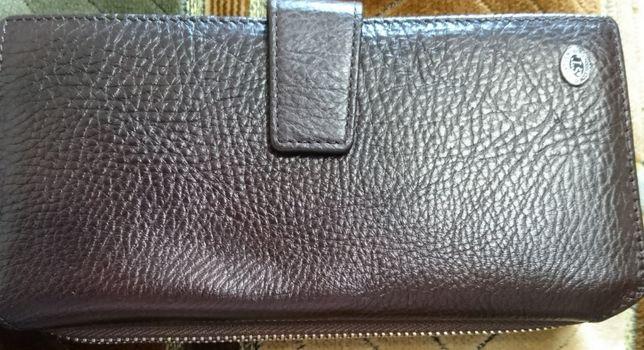 Кожаный большой женский кошелек