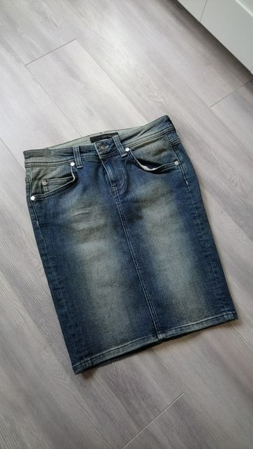 Spódnica szmizjerka Dżinsowa Calvin Klein Jeans r. XS