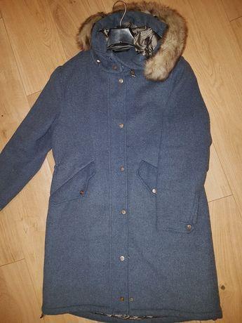 Ocieplana kurtka plaszcz Massimo Dutti S