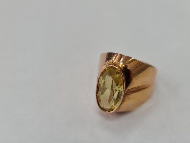 Retro! Wyjątkowy złoty pierścionek/ Radzieckie 583/ 6.98 gram/ R13