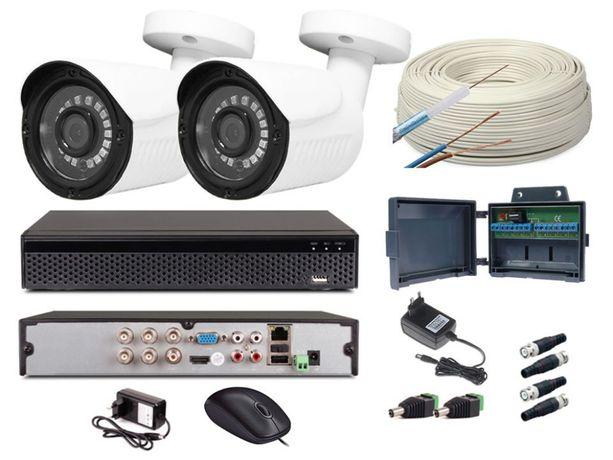 HIT!!! Zestaw monitoringu 2 kamery 8MPX (4K) - podgląd na telefonach
