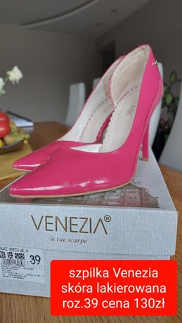 Szpilki różowe Venezia
