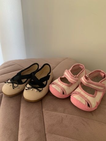 Balerinki Zara 19 i pantofelki cool lub gratis