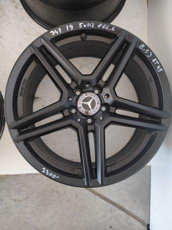 347 Felgi aluminiowe MERCEDES R 19 5x112 otwór 66,6 bardzo ładne czarn