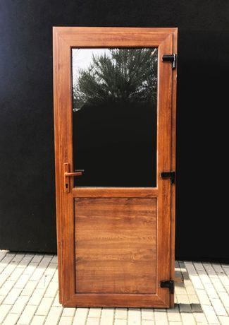 ZŁOTY DĄB szyba panel 100x210 drzwi PCV Nowe