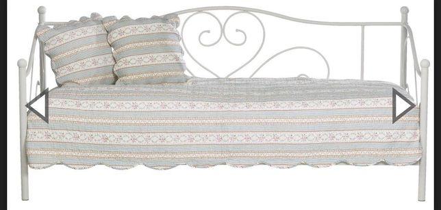 Biała rama łóżka 90x200 Jysk