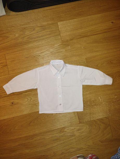 Elegancka biała koszula 74/80 do chrztu