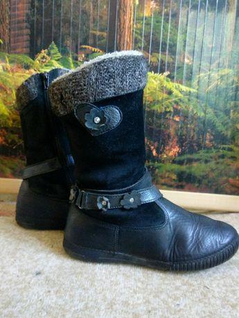 Сапоги зимние кожаные 34 размер