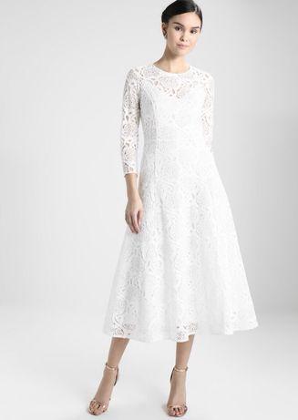 Suknia ślubna S, długi rękaw, cywilny, kościelny, Ivy & Oak