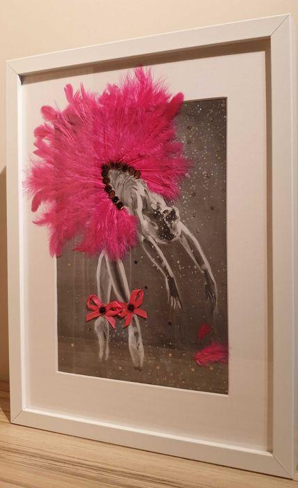 BALETNICA W RAMCE - Ręcznie Zdobiona - Kolor Różowy Marki - image 1