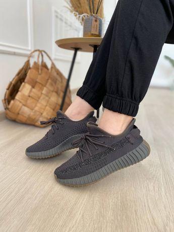 Женские кроссовки Adidas Yeezy Boost 350 Cinder (рефлективная полоса)