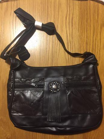 Nowa ciemno-brązowa  torebka+portfelik