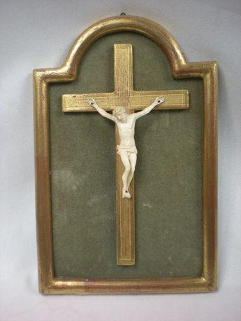 Piękna Rzeżba Krucyfiks Kość XVIII wiek !