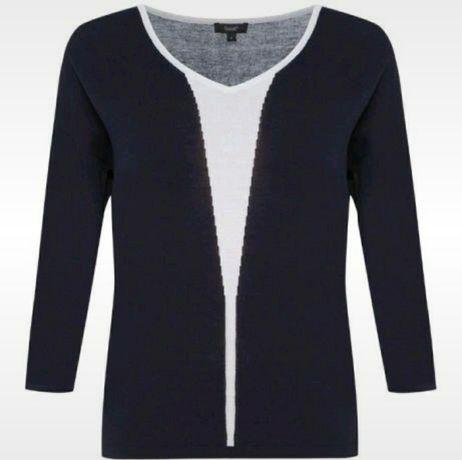 Granatowa delikatna, cienki sweterek marki SOLAR  Rozmiar 36