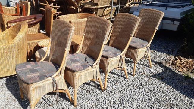 ładne krzesła ratanowe letnia OBNIŻKA
