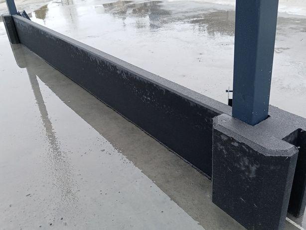 Podmurówka grafitowa wibroprasowana, łącznik betonowy grafit