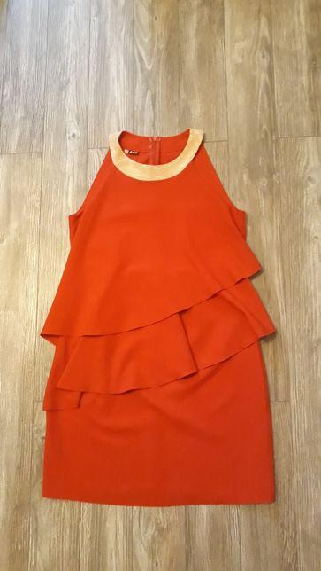 Błyszcząca czerwona sukienka r. L/XL