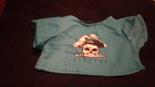 кукольная одежка пират бирюзовая кофта кукле или мишке