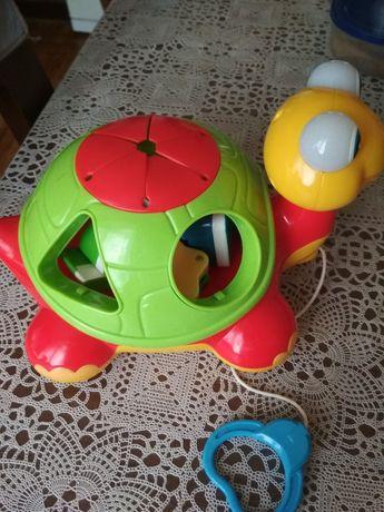 Детская игрушка - Каталка-сортер Черепаха-знайка