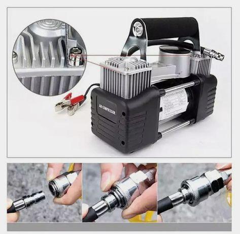 Автомобильный компрессор автомобильный насос авто-компресор 2 поршнево