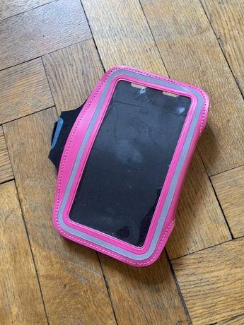 Etui na iphone ramię bieganie sport różowe czerwone czarne stan bdb