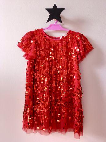 Sukienka H&M roz 104 cekiny
