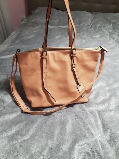 Duża brzoskwiniowa torba A4
