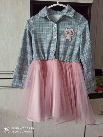 Детское платье 104-110 с нежным фатином