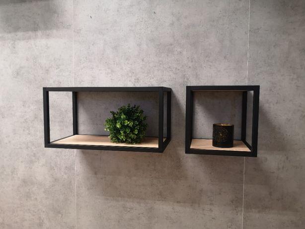 Półka wisząca w stylu industrialnym, loftowym.