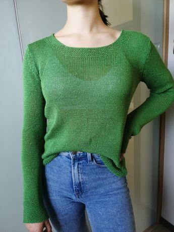Sweter zielony M