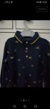 George koszulka polo, długi rękaw r. 98-104
