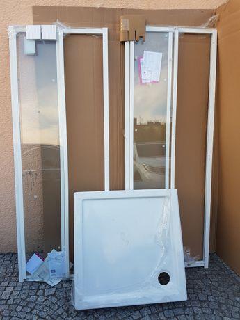 Kermi Cada kabina kwadratowa z brodzikiem, drzwi rozsuwane 80 x80