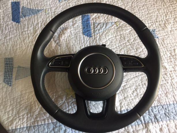 Volante em pele com airbag para Audi Q3, Q5 e Q7