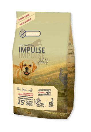 Ração - THE NATURAL IMPULSE P/Cão Adulto - FRANGO - Saco 3kg / 12kg