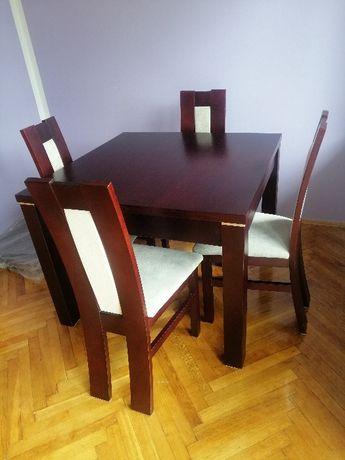 Stół fornirowany (naturalny dąb) kolor Wenge 100x100