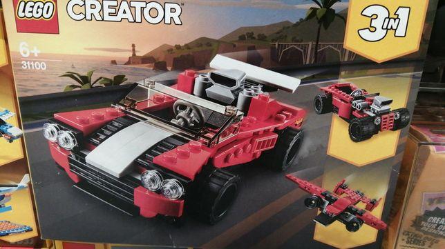 Конструктор  LEGO спорткар, полицейская машина, вездеход
