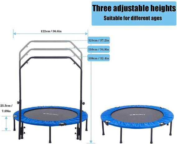 Zenph Fitness-Trampolin trampolina pokojowa fitness 122 cm CZYTAJ OPIS