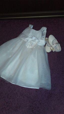 Sukienka sukieneczka  na wesele chrzciny London bal 18-24m 1/2/3 lata