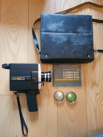 Kamera filmowa Lomo 215 8mm USSR z akcesoriami zabytkowa retro