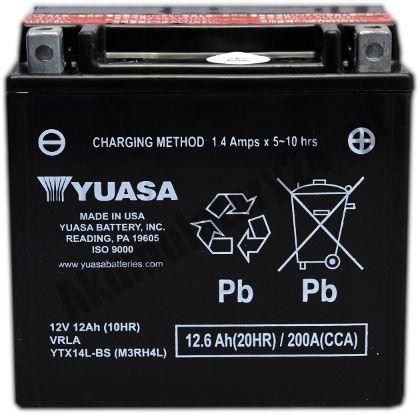 Yuasa YTX14L-BS MF (AGM) 12.6Ah 200A 12V P+ CP Wrocław - image 1