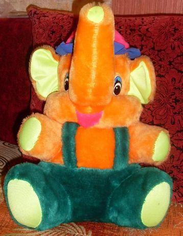 мягкая игрушка разноцветный слоник - слон 40 см