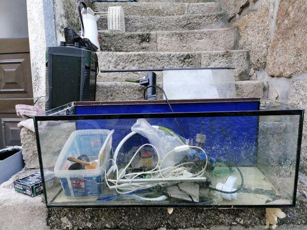 aquario 90x35x35 + acessorios baixa de preço